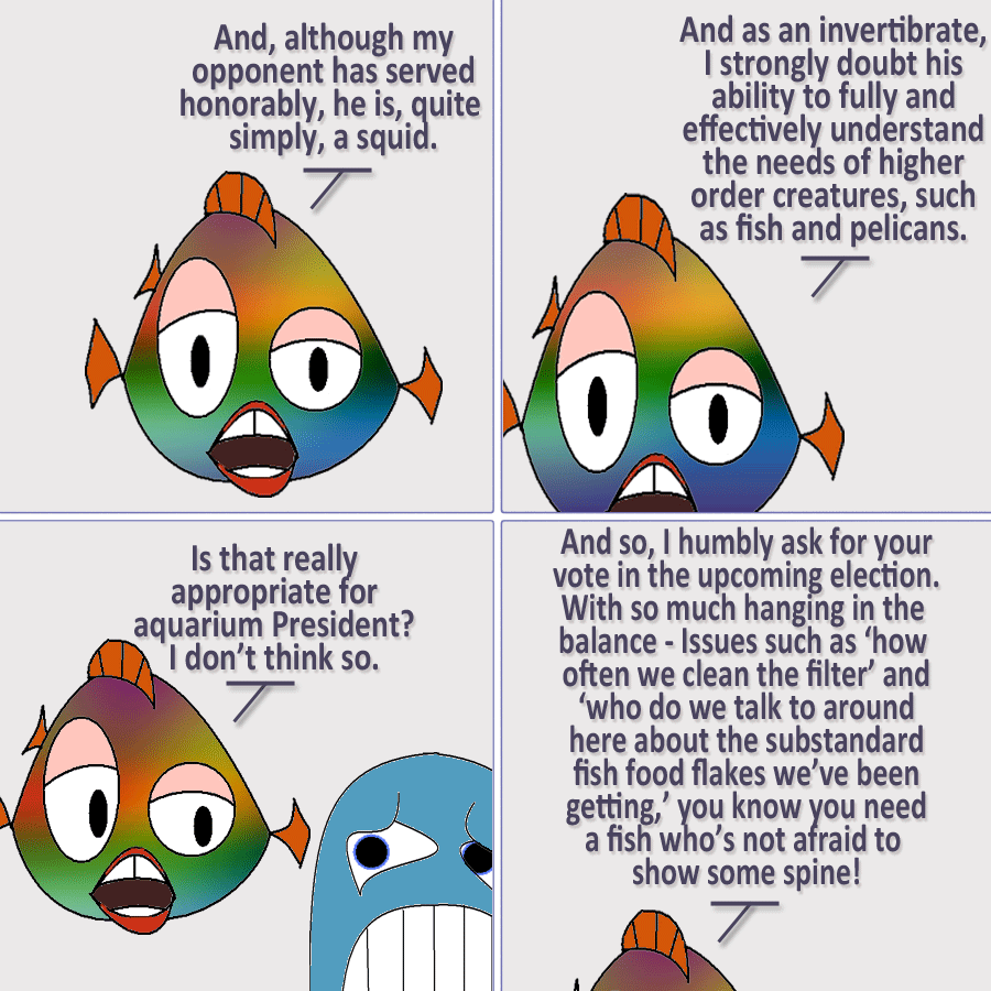 Whether you prefer fish or squid, it's important to vote!