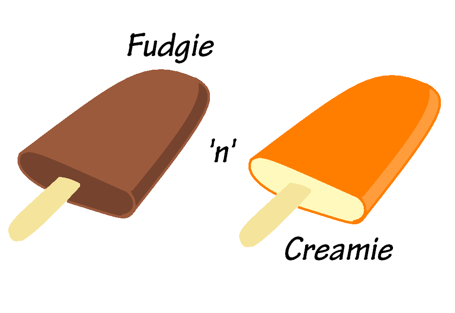 Have the Creamie first, cuz the Fudgie's flavor is stronger.